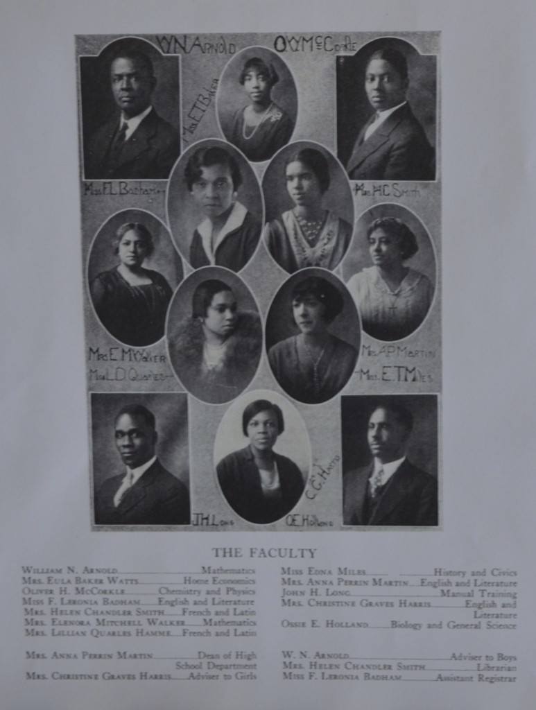 Stephens-Lee Faculty circa 1920's