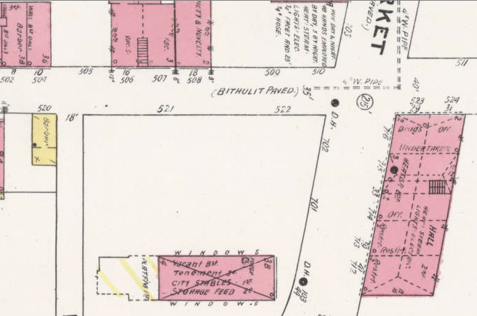 Detail of 1907 Sanborn Fire Insurance Map of Asheville