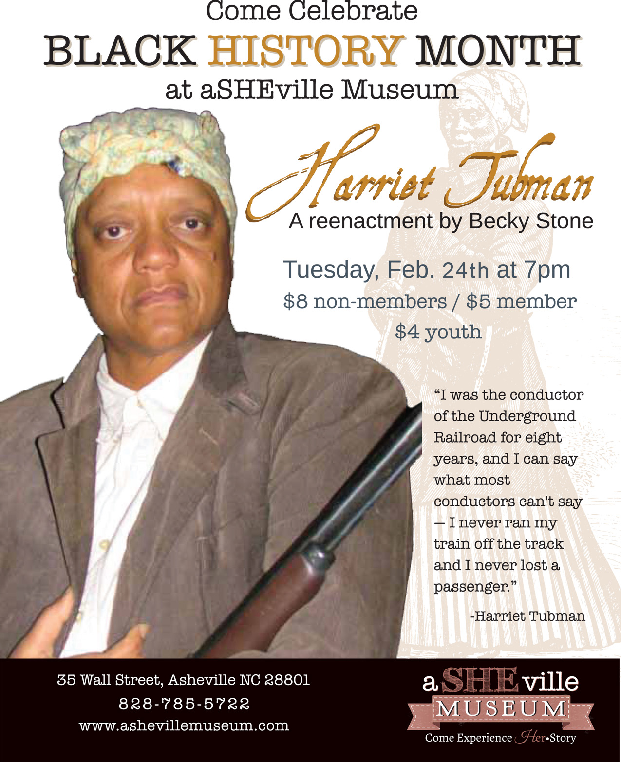 Harriet Tubman flyer